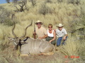Jim, Susan, and Tres with Jim's kudu or ginsbock ?