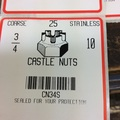 stainless castle nuts