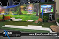 Custom putting green golf trade show booth