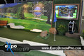 Golf theme trade show booth